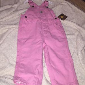 Carrhartt toddler overalls. Pink 2t